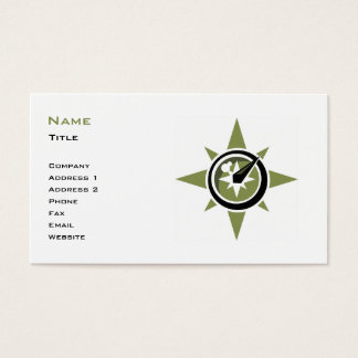 Compass Business Card Template
