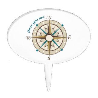 Compass Cake Topper
