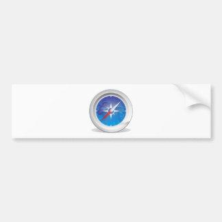 Compass Car Bumper Sticker