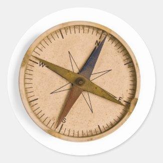 compass classic round sticker