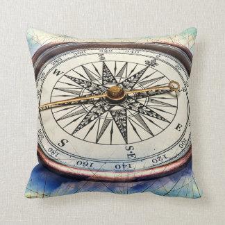 Compass Clouds Throw Pillow