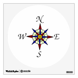 Compass Dial Wall Decal