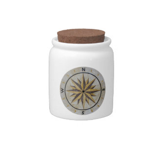 Compass Direction Design Point Floor Table Top Mar Candy Dishes