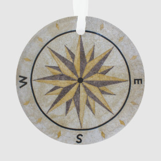 Compass Direction Design Point Floor Table Top Mar Ornament