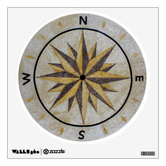 Compass Direction Design Point Floor Table Top Mar Wall Sticker
