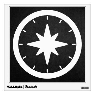 Compass Directions Pictograph Wall Decals