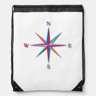 Compass Drawstring Backpack