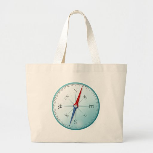 Compass East North South West Compass Rose Canvas Bags