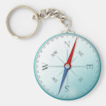 Compass East North South West Compass Rose Basic Round Button Keychain