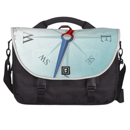 Compass East North South West Compass Rose Commuter Bags