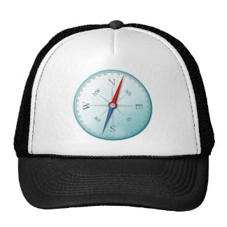 Compass East North South West Compass Rose Trucker Hat