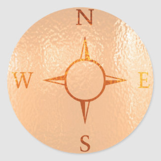 COMPASS East West North South NEWS Classic Round Sticker
