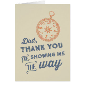 Compass Father's Day Card