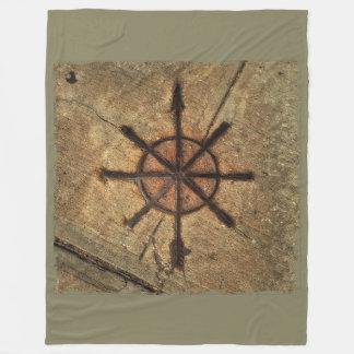 compass fleece blanket