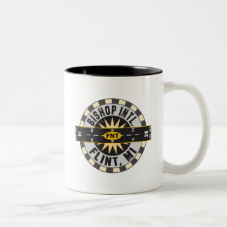 Compass - Flint- MI Bishop Intl. Airport FNT Two-Tone Coffee Mug