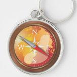 Compass Keychains