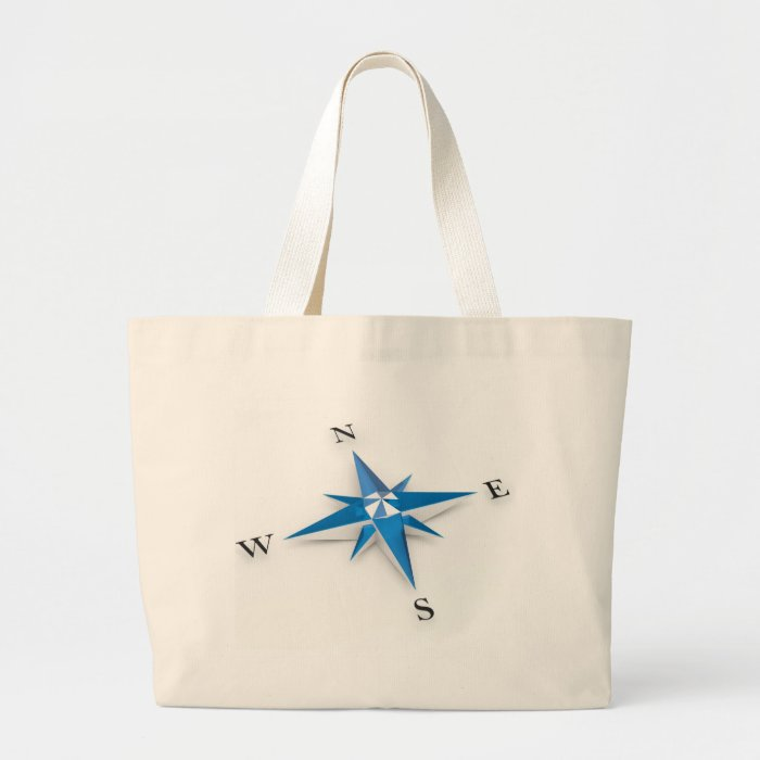 Compass Large Tote Bag