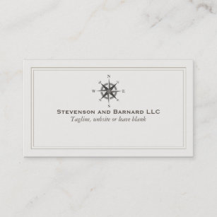 Insurance broker business cards templates zazzle compass logo traditional nautical business card reheart Gallery