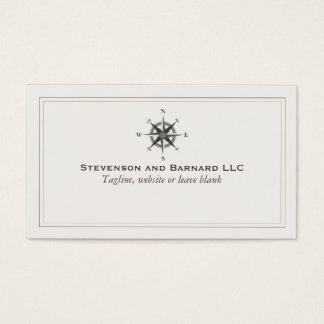 Compass Logo Traditional Nautical Business Card