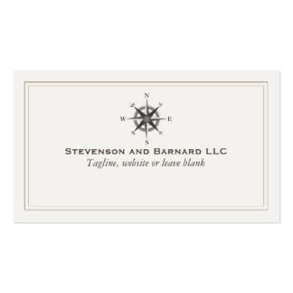 Compass Logo Traditional Nautical Double-Sided Standard Business Cards (Pack Of 100)