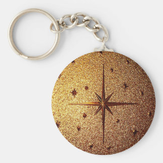 compass magg location old vintage paper rusty brow keychain