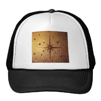 compass magg location old vintage paper rusty brow trucker hat