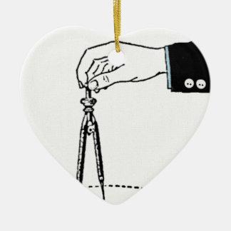 Compass, math tool. ceramic ornament