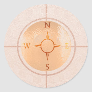 COMPASS NEWS North East West South Classic Round Sticker