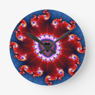 Compass of Chaos Round Wall Clocks