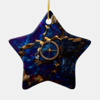 Compass of the time ceramic ornament