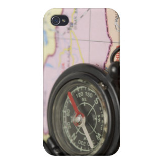 Compass on a map 2 iPhone 4 cover
