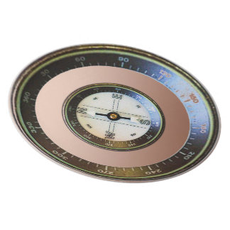 Compass on copper plates