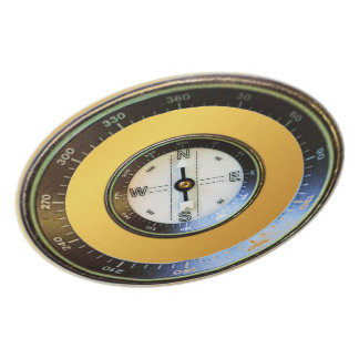 Compass on gold dinner plates
