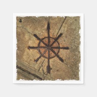 compass paper napkin