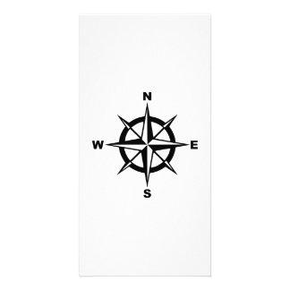 Compass Photo Greeting Card
