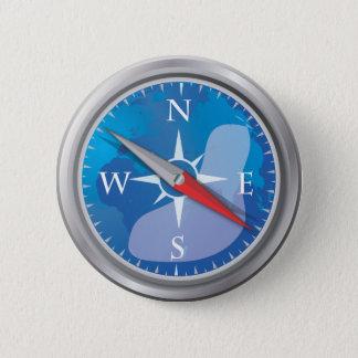 Compass Pinback Button