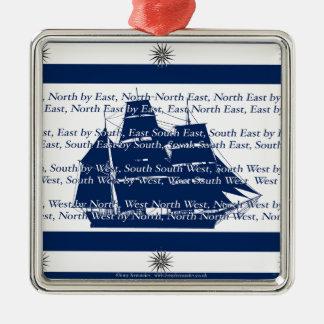 compass points metal ornament