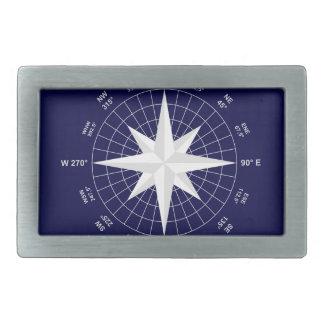 compass rectangular belt buckle