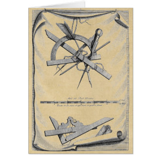 Compass, Right Angle and Scale Card