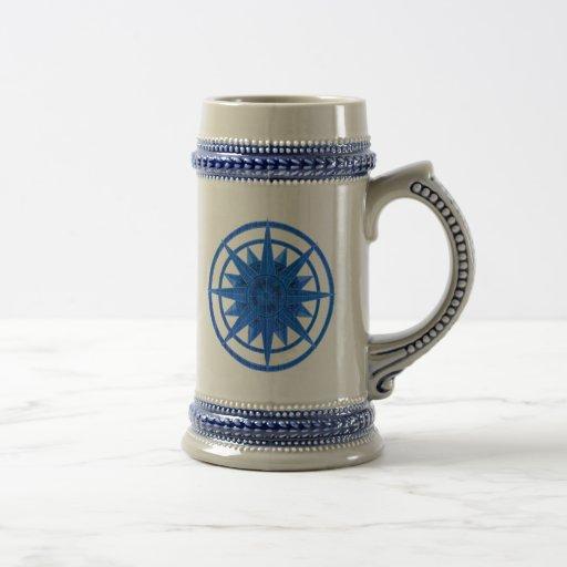 Compass Rose 18 Oz Beer Stein