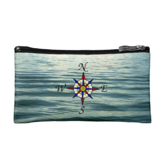 Compass Rose 2 Small Cosmetic Bag