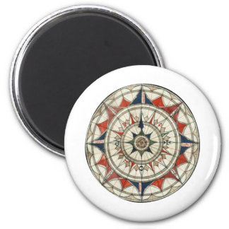 Compass Rose #5 2 Inch Round Magnet