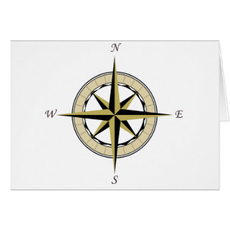 Compass Rose Art Greeting Card