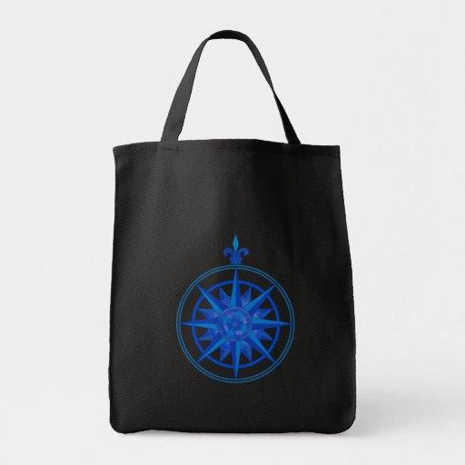 Compass Rose Canvas Bag