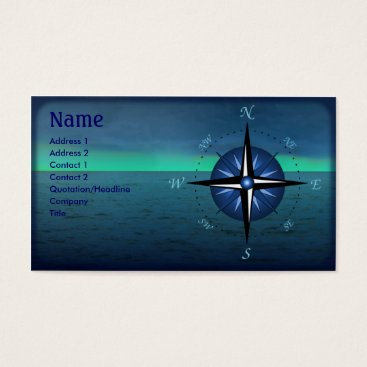 Wedding Themed Compass Rose Boating Business Card