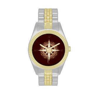 Compass Rose Brown Watch
