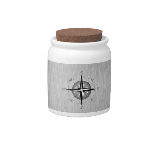 Compass Rose Candy Jar