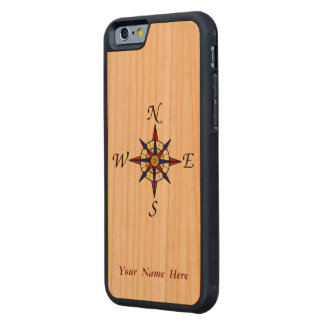 Compass Rose Carved® Cherry iPhone 6 Bumper