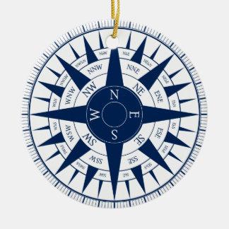 Compass Rose Ceramic Ornament