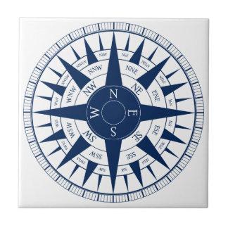 Compass Rose Ceramic Tile